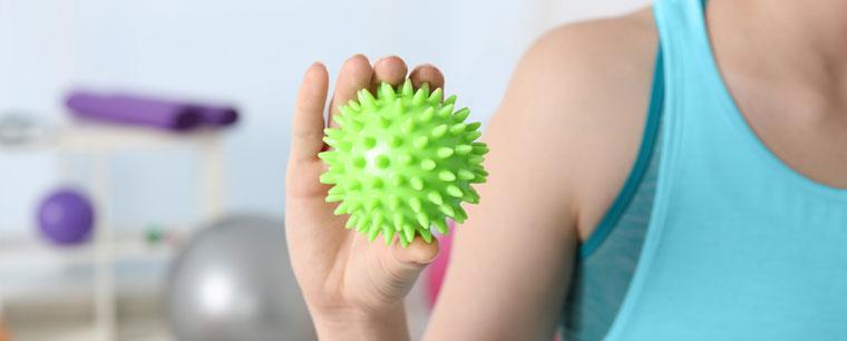 Physiotherapeut und Behandlung